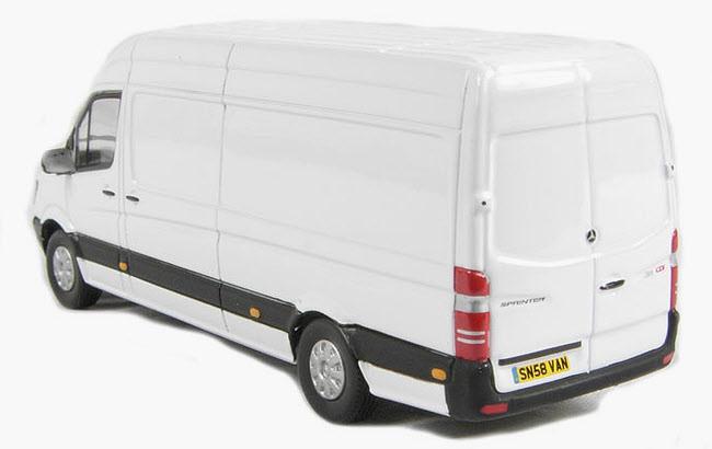 Mercedes Sprinter Side >> Modelbuszone - CMNL Model UKVAN 1005 - Dealer White - Mercedes Sprinter Van
